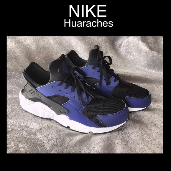 1 NIKE Huaraches Men Size 12 BLUE/BLACK/WHITE